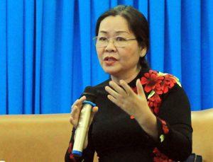 TS Nguyễn Thị Bích Hồng chia sẻ tại tọa đàm. Ảnh: Yến Nhi